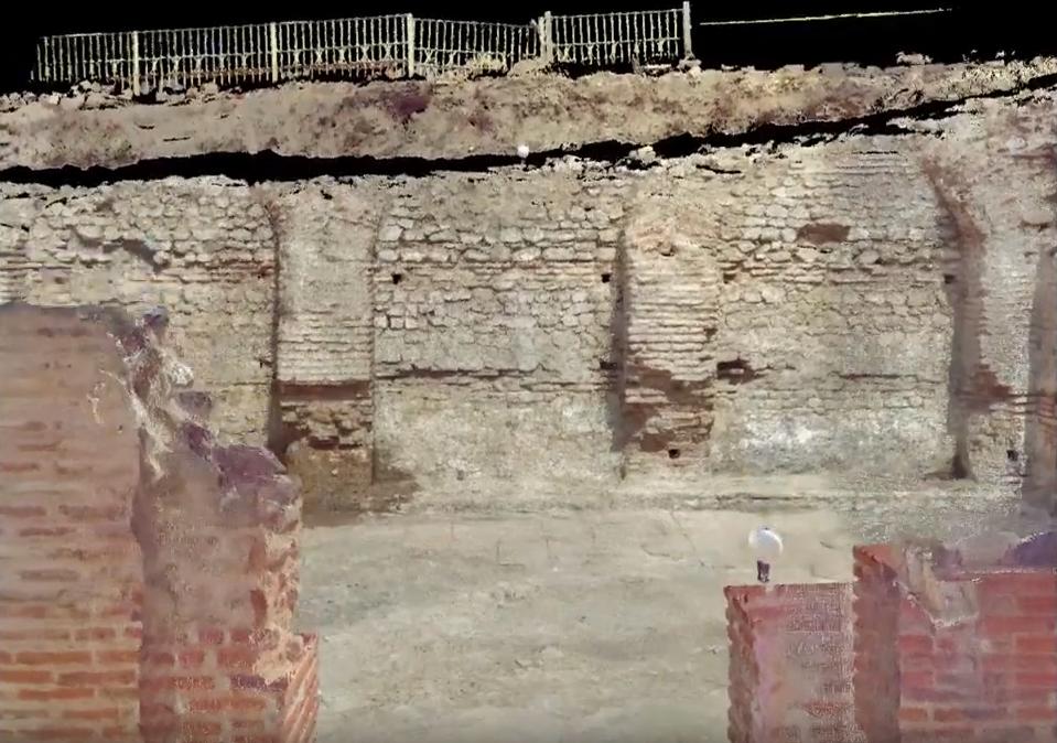 3D сканиране на Римски терми гр. Хисаря